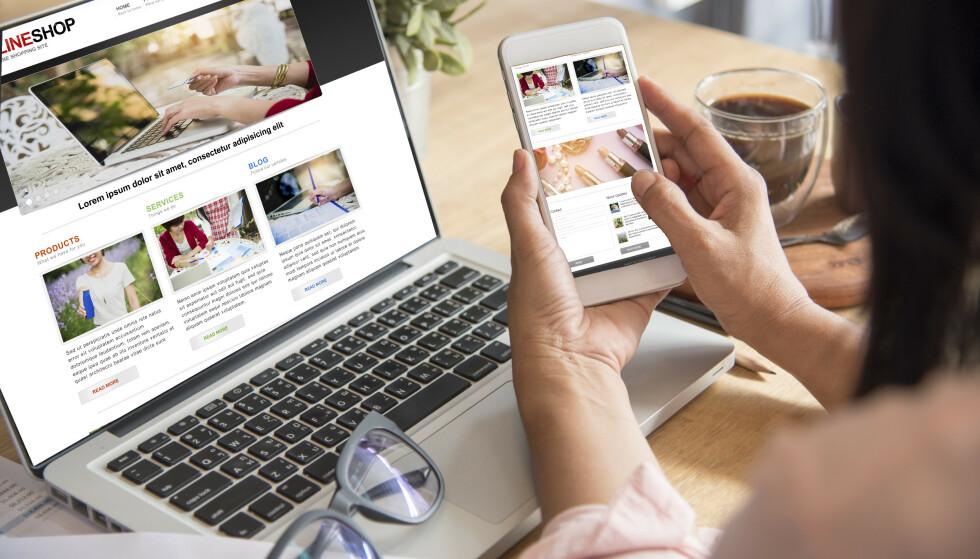 NETTHANDEL: Skatteetaten har offentliggjort lista over hvilke selskaper som har registrert seg i VOEC-ordningen. Foto: Shutterstock