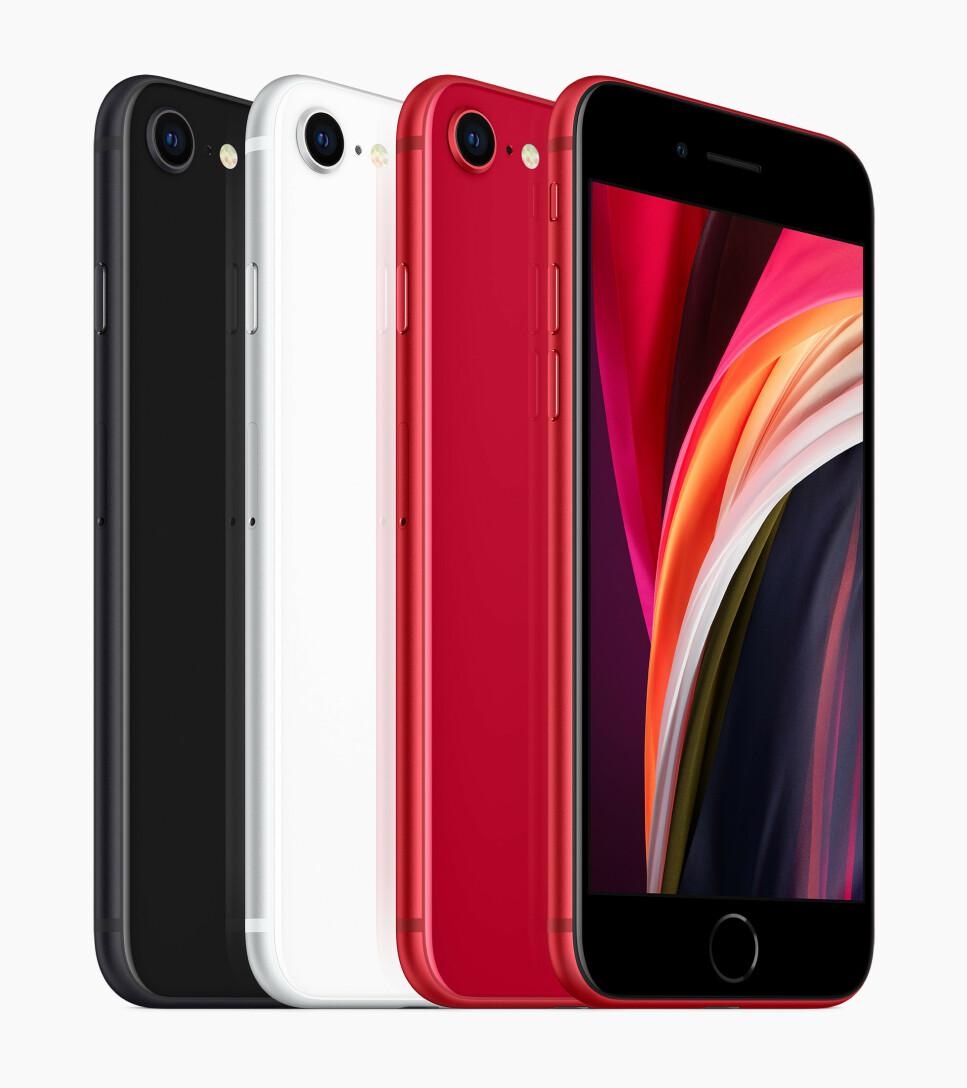NEI, MEN ER DET IKKE: Her er Apples nyeste iPhone, som ser ut som en gammel iPhone, nærmere bestemt iPhone 8. Foto: Apple
