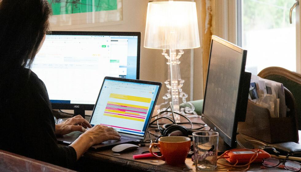 NYE REGLER: Arbeidet med å se på reglene ved bruk av hjemmekontor er godt i gang, ifølge departementet. Foto: NTB