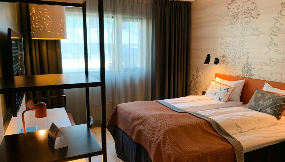 Slik så vårt hjemmekontor ut på Quality Hotel ved Gardermoen. Foto: Berit B. Njarga