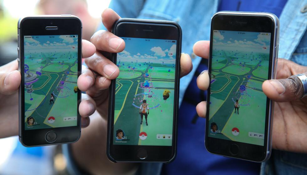 POPULÆRT: Pokémon Go ble en viralhit da det ble lansert i 2016, og selv om bruken etter hvert har gått ned, er det fortsatt mange som spiller det. Foto: Dinendra Haria / REX / Shutterstock / NTB Scanpix