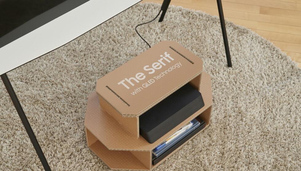 Eller spartansk TV-benk? Foto: Samsung