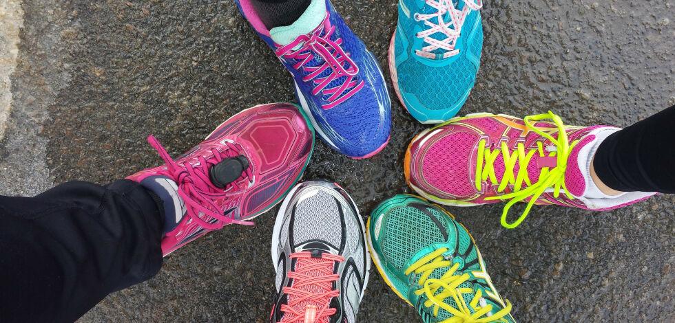 image: Avslørende laboratorietest av joggesko