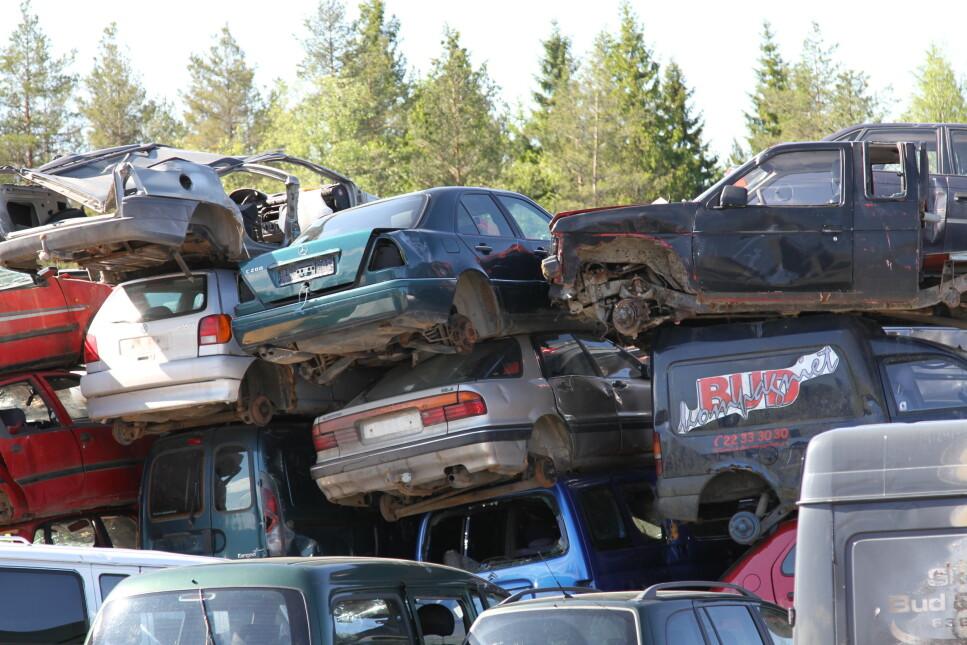 <strong>11 ÅRS LEVETID:</strong> Ifølge en svensk undersøkelse er det beste for miljøet å gjenvinne en bil når den er 11 år og erstatte den med en ny. Foto: Rune Korsvoll