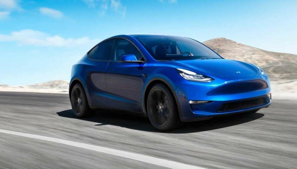DYRERE: Teslas bilnyhet Model Y er ennå ikke kommet på markedet. Tesla har imidlertid allerede skrudd opp prisen med mer enn 30.000 kroner på nye bestillinger. Foto: Tesla