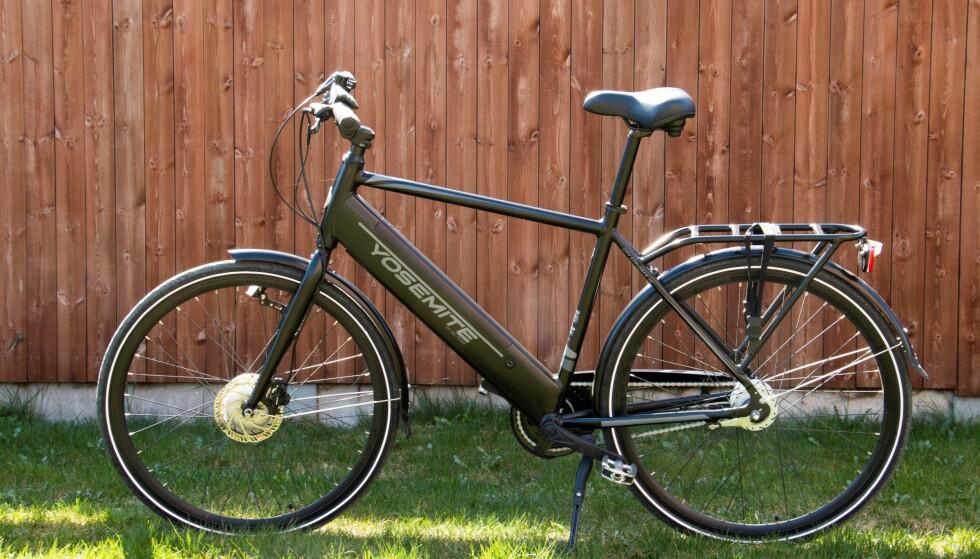 RIMELIG ELSYKKEL: Denne Biltema-sykkelen koster i skrivende stund 11.990 kroner