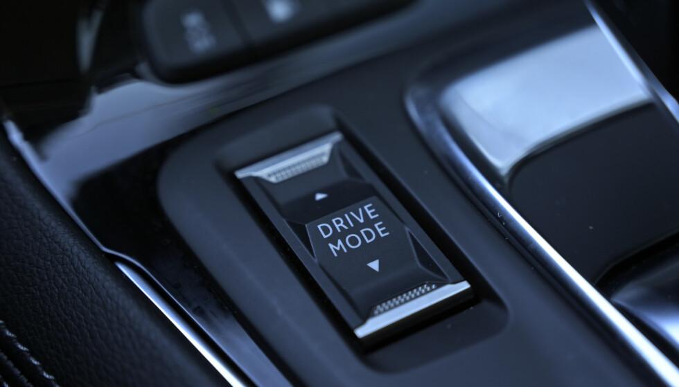 KJØREPROGRAMMENE: En vippebryter kjører deg gjennom fire kjøreprogrammer. Foto: Rune M. Nesheim
