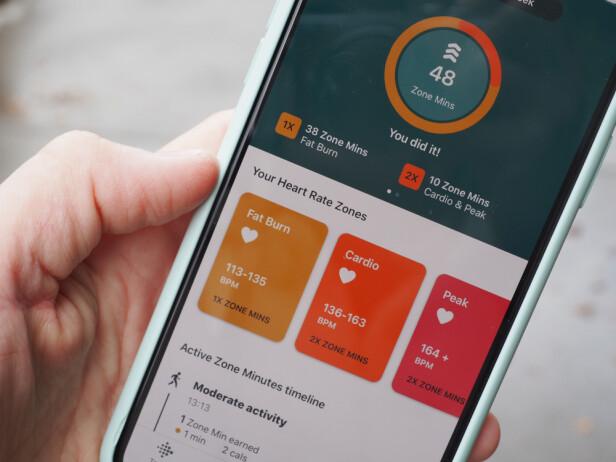FÅ OPP PULSEN: Active Zone Minutes er en ny ting å bli hekta på i Fitbit-verdenen. . Foto: Kirsti Østvang