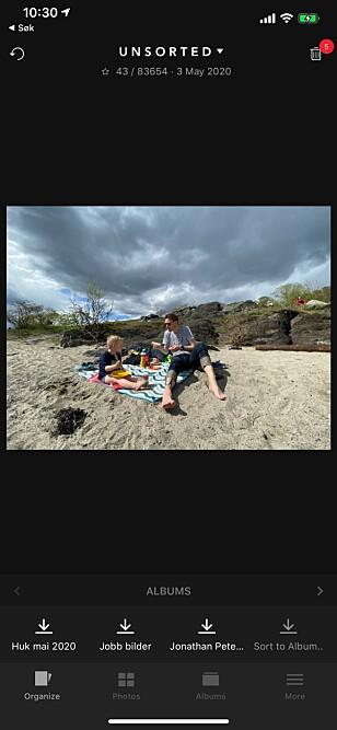 SLIDEBOX: Med denne appen er det en lek å organisere kamerarullen på mobilen, enten det gjeld