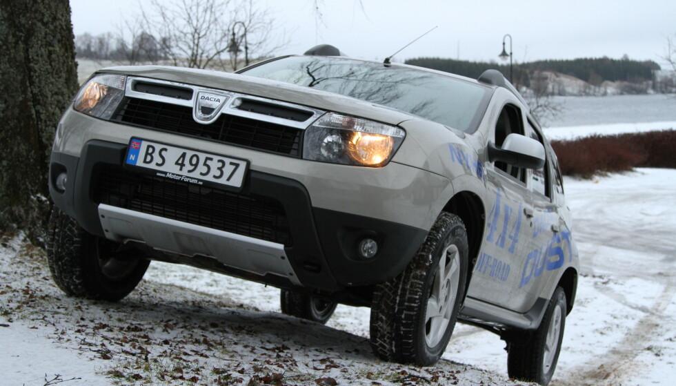 DACIA PÅ BUNNEN: Renaults billigmerke Dacia går oftest igjen blant bilene med mange feil. I Norge er Duster den billigste familie-SUVen i butikken. Foto: Rune Korsvoll