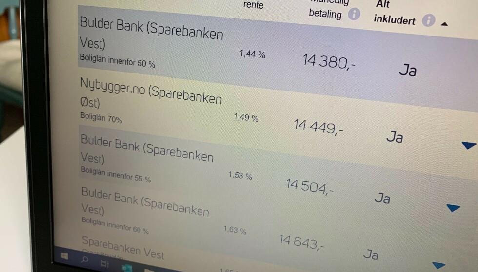 RENTEKUTT: Bankene fortsetter å kutte rentene sine, og nå kan du få boliglånsrente godt under 1,50 prosent. Dette bør du utnytte godt. Foto: Eilin Lindvoll