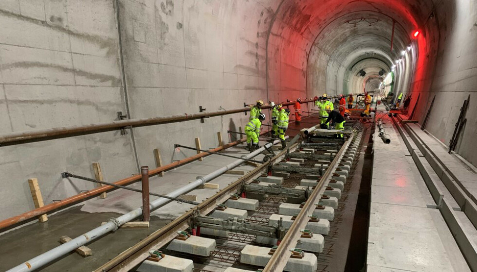 JERNBANEPROSJEKTER: Regjeringen vil prioritere allerede igangsatte prosjekter. Foto: Bane NOR