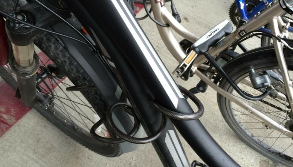 FALSK TRYGGHET: Spirallåser er svært lette å få opp, og anbefales ikke i storbyen. Foto: Tore Neset