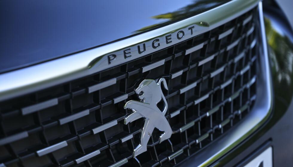 LUKKET: Det er ikke mange åpninger i fronten på Peugeot. Foto: Rune M. Neshein