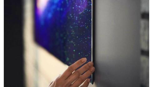 LG GX sitter nesten klistra til veggen. Foto: LG