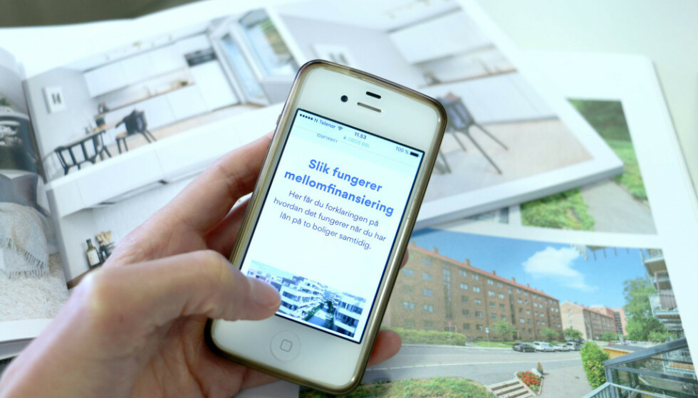 KJØPE, SÅ SELGE: Du må kanskje ta opp et lån mellom kjøp og salg av bolig, et såkalt mellomfinansieringslån. Foto: Eilin Lindvoll.