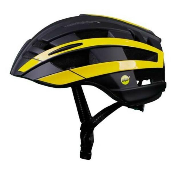 BILTEMA BEST: Biltema-hjelmen MIPS er den beste av de konvensjonelle hjelmene i testen. Foto: Folksam