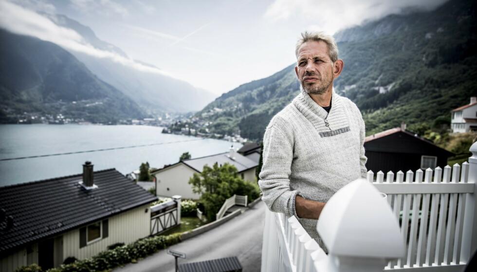 Hjemme hos Lothepus: Leif Einar Lothe hjemme i huset sitt i Odda. Foto: Christian Roth Christensen / Dagbladet