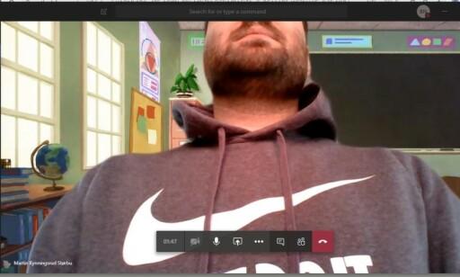 I TASTATURET: For å få smalere ramme rundt skjermen, har Huawei plassert webkameraet i tastaturet. Det kan føre til kameravinkler som dette. Foto: Martin Kynningsrud Størbu
