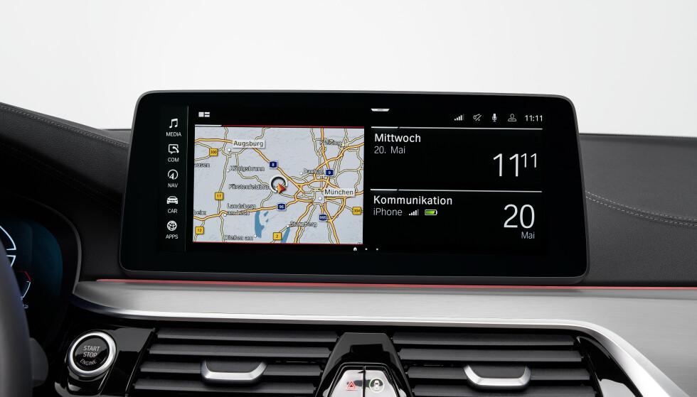 Standard skjerm er 10,25 tommer , men er tilgjengelig med 12,3. Foto: BMW.