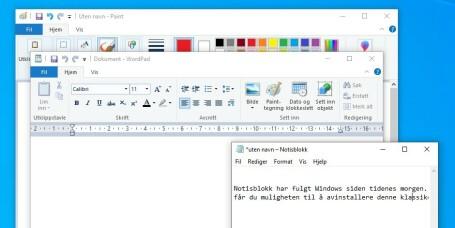 Dette er nytt i Windows 10