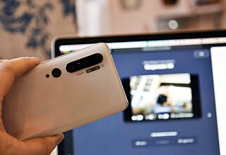 Bruke telefonen som webkamera til PC