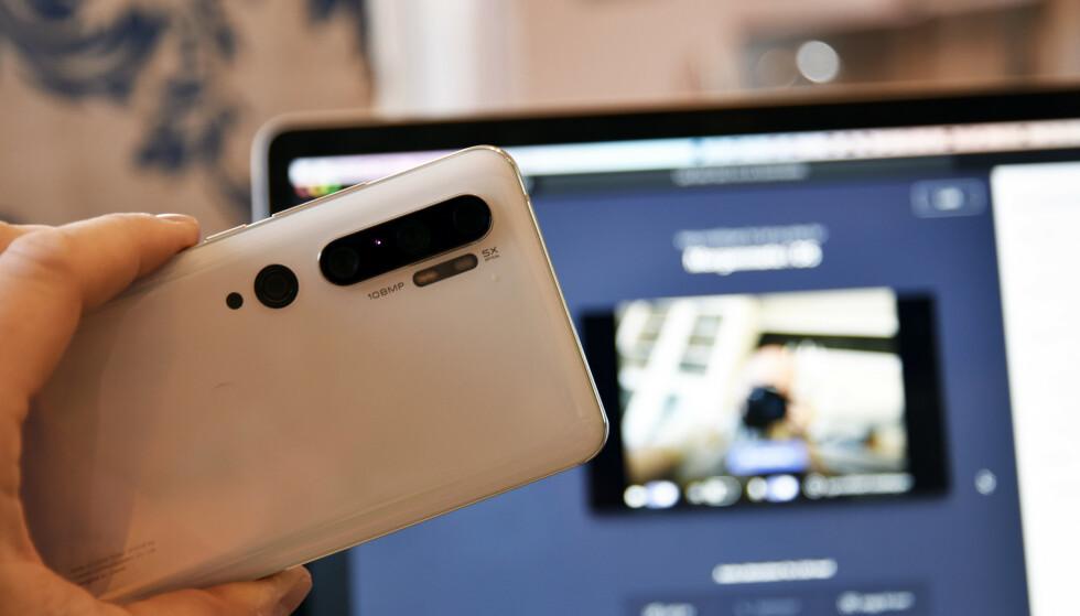 KJEKK MULIGHET: Mangler du webkamera på PC-en, kan du bruke en mobiltelefon, eller kanskje også et eldre kamera du har liggende i skuffen. Foto: Pål Joakim Pollen