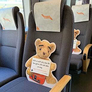 Flytoget har innført smitteverntiltak på togene sine. Foto: Flytoget