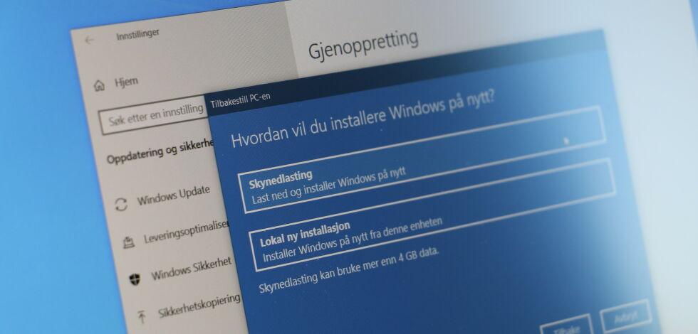 image: Guide: Slik gjenoppretter du Windows 10 fra skyen