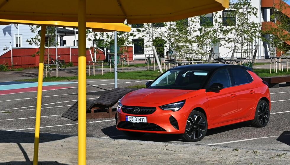 FREKK NOK. Man ser at Opel ikke har tatt av på detaljer,men Corsa-designen er passe fresk. Foto: Rune M. Nesheim