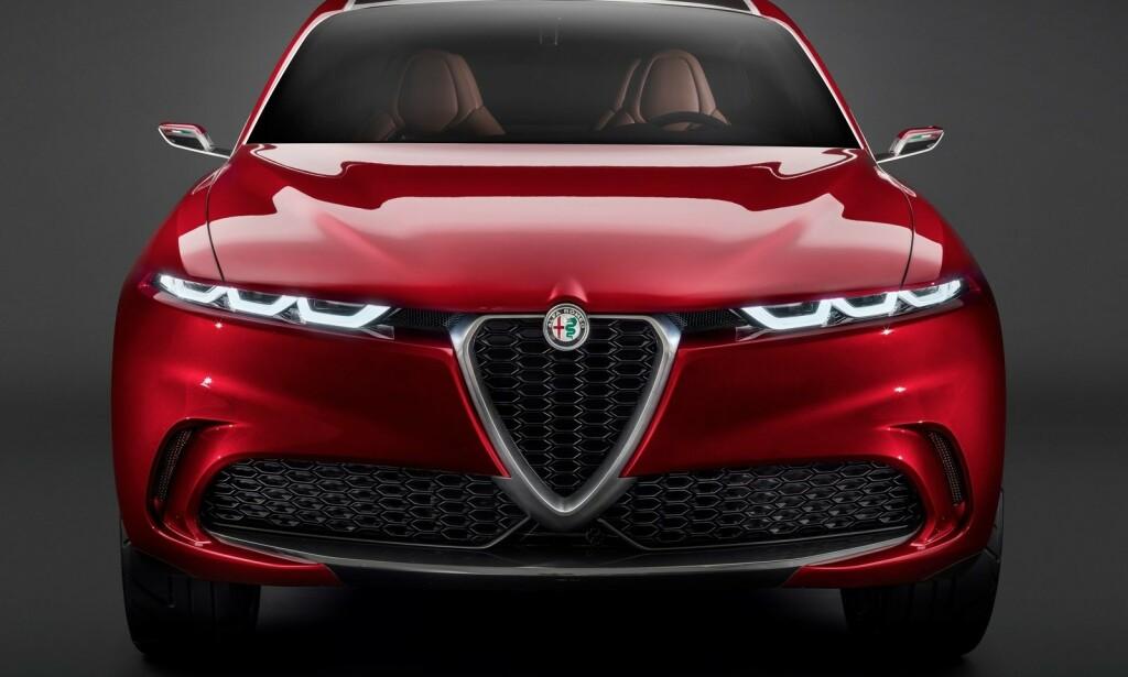 ELEKTRIFISERER: I 2021 kommer italienske Alfa Romeo med en ladbar hybrid-SUV i form av det tidligere konseptet Tonale. Året etter kommer en ren elbil, skal vi tro britiske Autocar. Foto: Alfa Romeo