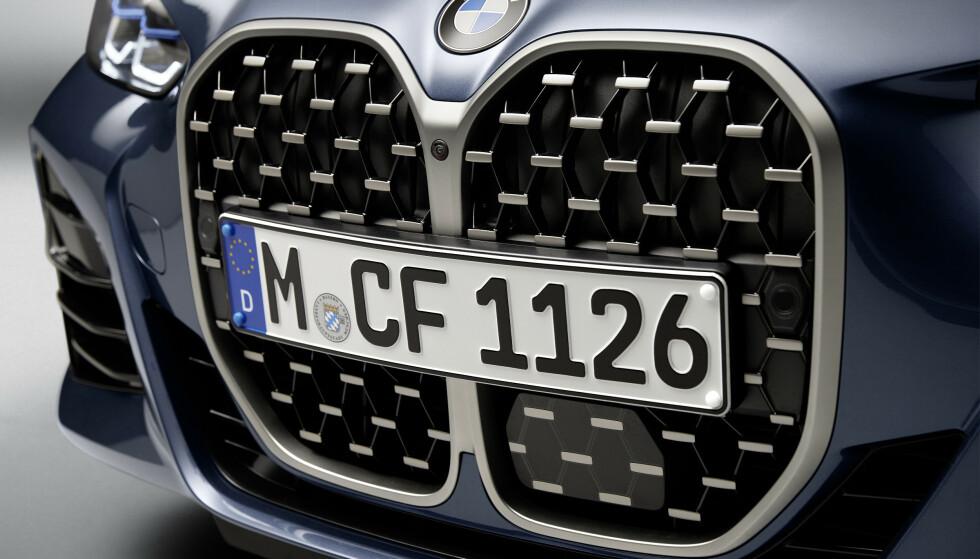 NYTT ANSIKT: Store griller skal gjøre BMW mer gjenkjennbare. BMW 4-serie viser med tydelig kraft den nye designretningen. Foto: BMW