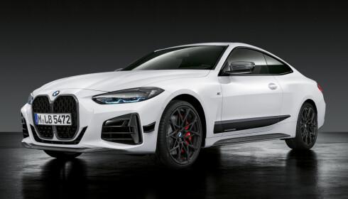 PERFORMACE: BMW har også sin Performance-serie klar for 4-serie. Den har en rekke stilelementer i sort man kan kjøpe. Foto: BMW