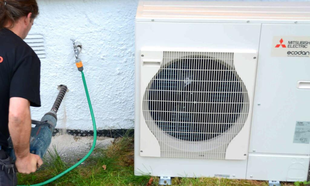 FORLENGER: Du kan fortsatt søke støtte til luft-vann-varmepumper og avtrekksvarmepumper i flere måneder til. Foto: Mitsubishi Electric