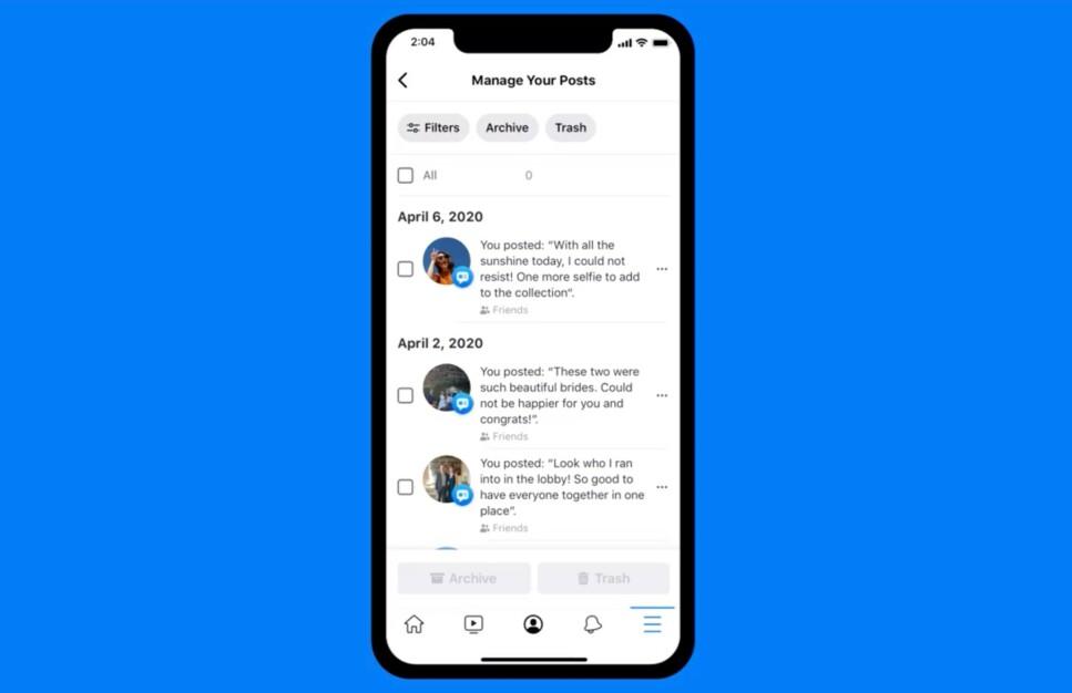 RYDD OPP: Med Facebooks nye verktøy kan du fjerne gamle innlegg du ikke ønsker at andre skal se. Foto: Facebook