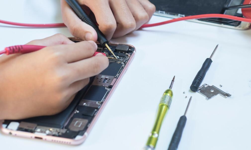 IPHONE-REPARASJON: En nordmann tapte i Høyesterett mot Apple. Foto: Shutterstock/NTB Scanpix