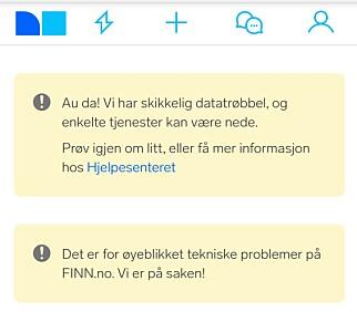 Skjermdump fra Finns forside.