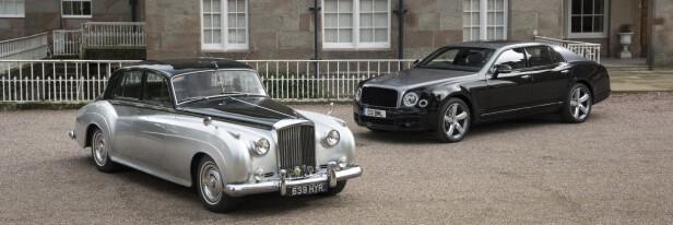 <strong>SAMME GRUNNKONSTRUKSJON:</strong> Bentley S2 var den første som fikk 6,75 liter. Mulsanne den siste. Foto: Bentley