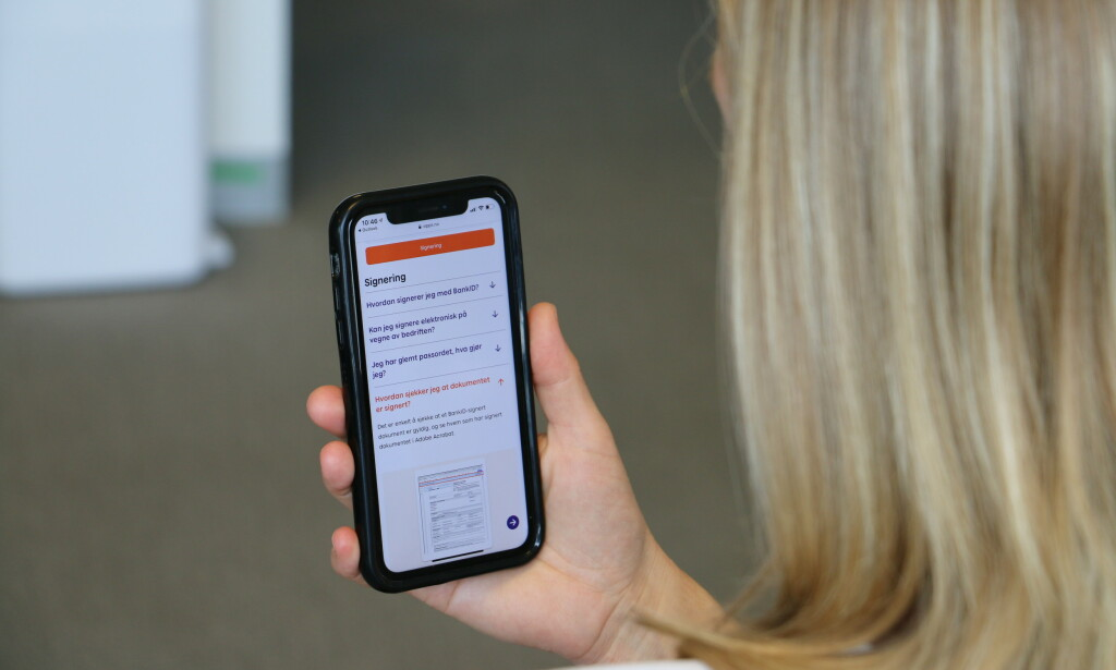 NY SIGNERINGSLØSNING: Posten tilbyr en ny, sikker signeringsløsning ved hjelp av Vipps og BankID. Foto: Martin Kynningsrud Størbu