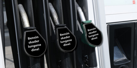 Foreslår skrekk-advarsel på bensinpumpene