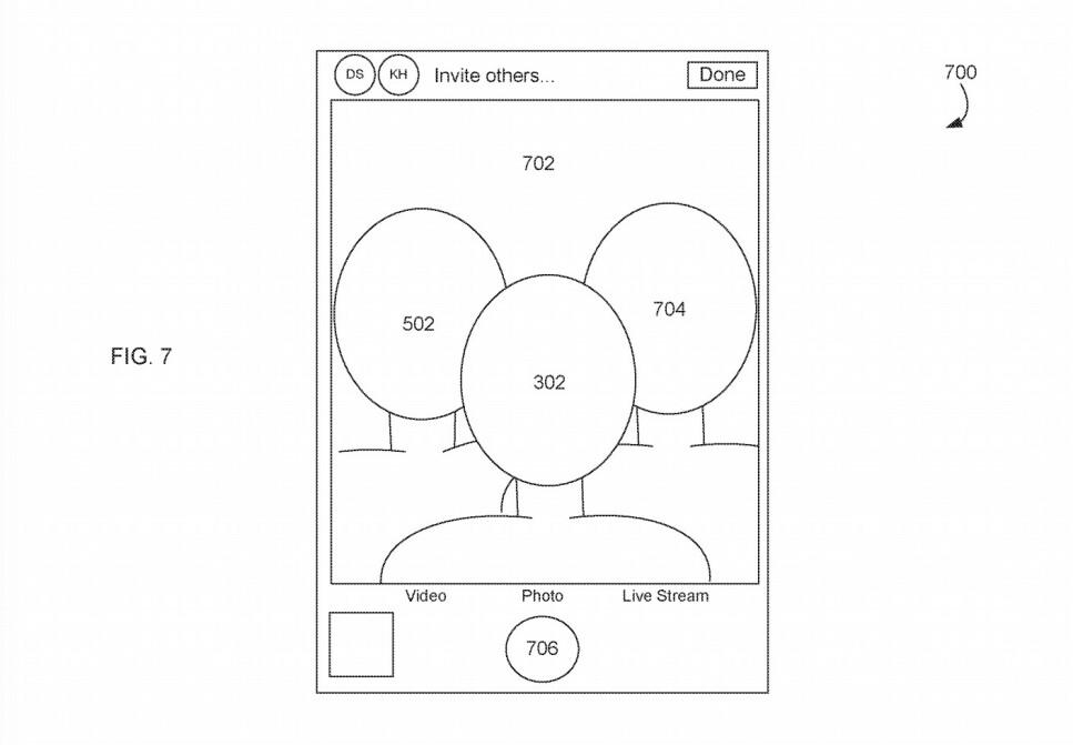 <strong>SYNTETISK GRUPPESELFIE:</strong> Apple har fått godkjent et patent på en funksjon som lar deg sette sammen selfier til en gruppeselfie. Foto: Apple