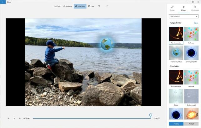 image: Lag superenkel video av feriebildene dine