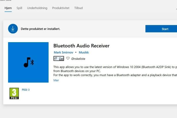 BLUETOOTH AUDIO RECEIVER: Dette er appen du må laste ned.