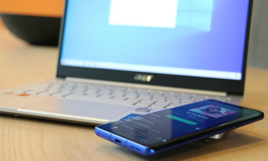 BLUETOOTH A2DP SINK: Nå kan du bruke PC-ens høyttalere som Bluetooth-høyttalere for mobilen din. Foto: Martin Kynningsrud Størbu