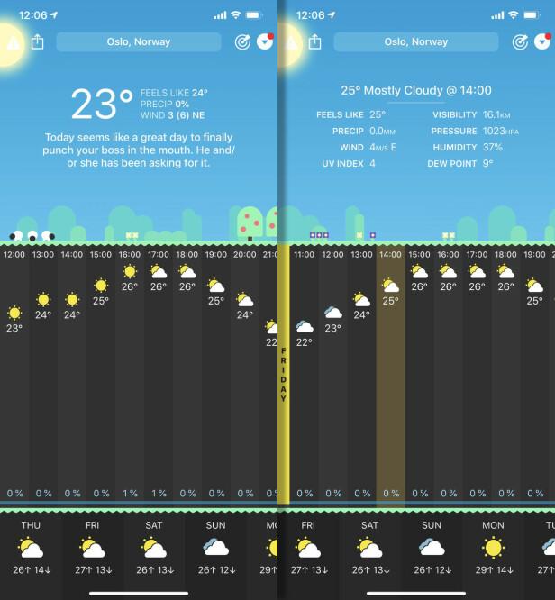 Vær-appene du trenger i sommer