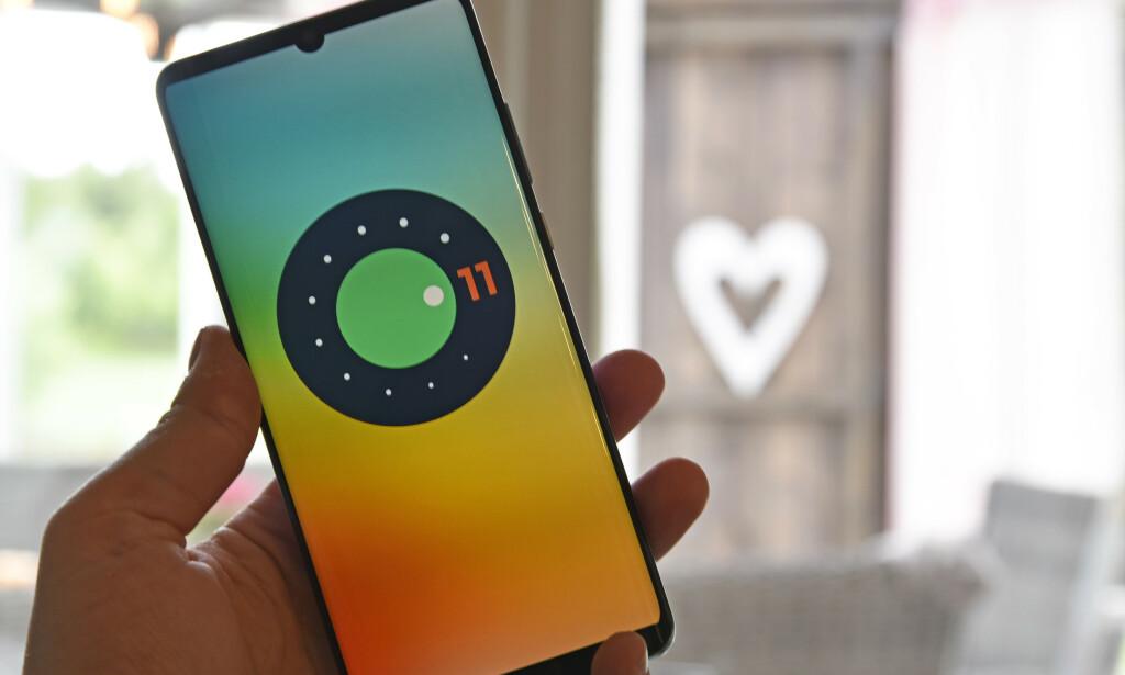 NY VERSJON: Pixel-eiere kan nå laste ned betaversjonen av Android 11, som slippes i høst. Foto: Pål Joakim Pollen