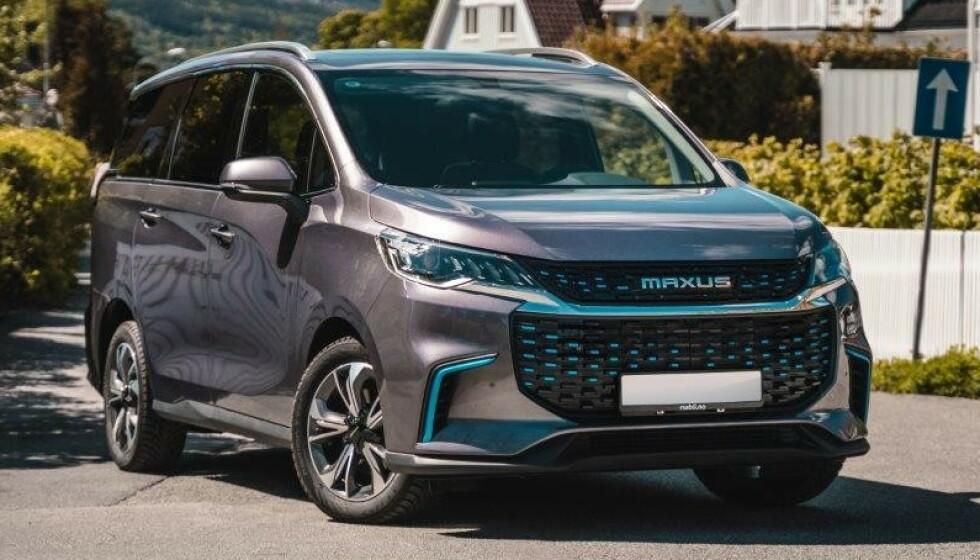 MAXUS EUNIQ MPV: Fra knappe 400.000 kroner kan du få elbil med 325 km rekkevidde og plass til sju personer. Foto: Importøren