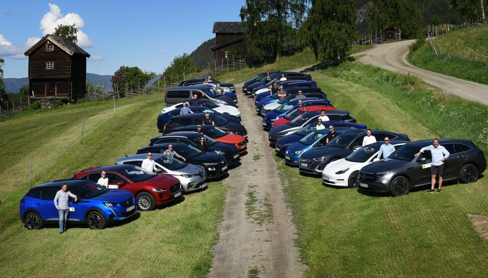 BEDRE ENN LOVET: En fersk, norsk test av rekkevidde på 29 elbiler viser at ALLE kjører lenger enn lovet på sommerføre. Foto: NAF