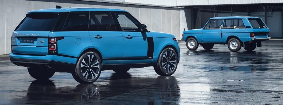 FEMTI ÅR: Tuscan Blue er kanskje fargen folk flest husker best fra da bilen var ny og er sammen med to andre hentet frem igjen. Foto: Land Rover
