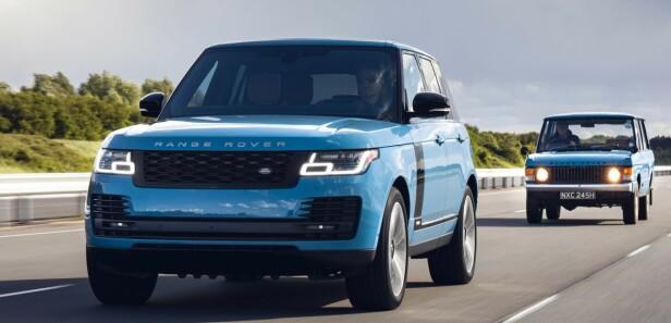 LUKSUS: Kun to ting er til felles med disse bilene, terrengegenskaper og farge. Foto: Land Rover